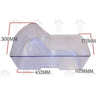 Bosch Groentelade Transparant KIL154043, KI24LF434 00353179