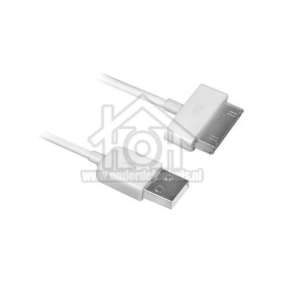 Ewent Kabel USB naar Apple Dock, 100cm Apple 30-pin Dock Connector EW9903