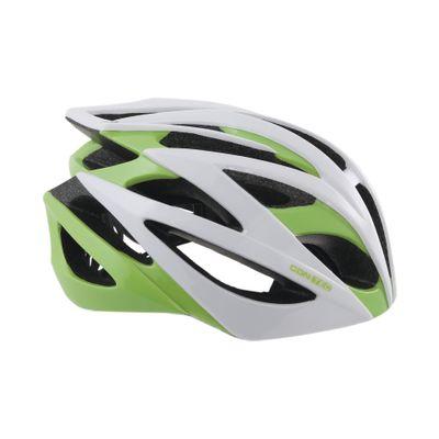 Contec Helm Race Tempest. Wit / Neogreen / Zwart, Maat M (55-58 Cm)