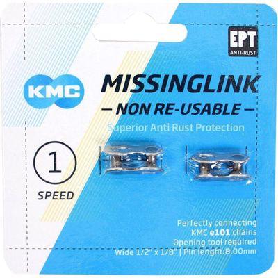 KMC Sluitschakel MissingLink e101NR EPT zilver single v(2)