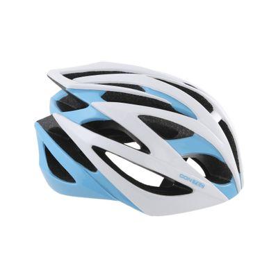 Contec Helm Race Tempest. Wit / Neoblue / Zwart, Maat M (55-58 Cm)