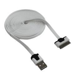 Foto van Apple 30-pins datakabel plat