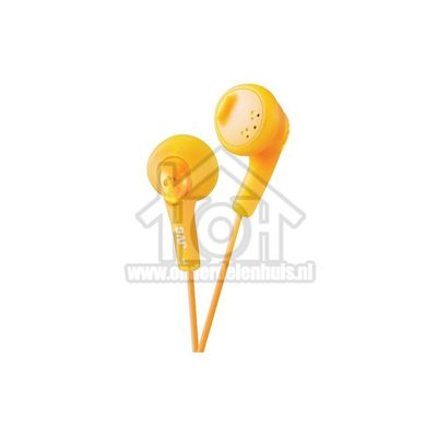 JVC Hoofdtelefoon Gumy, In Ear met krachtig geluid Oranje met 1 meter snoer HAF160DE(P)