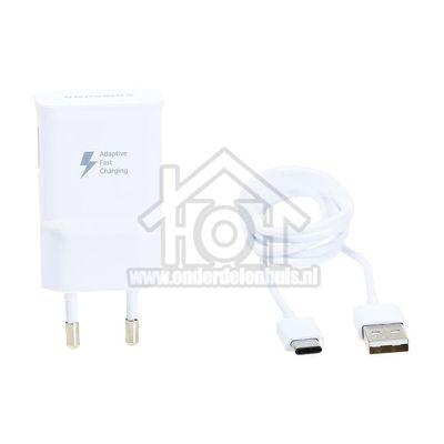 Foto van Samsung Oplader Fast Charging Snellader Wit, USB-C EP-TA20WHITE