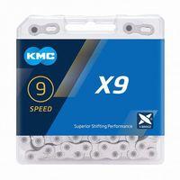 KMC ketting 1/2x11/128 114s X9 zilver 9v