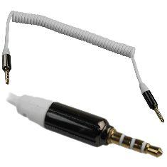 Audio kabel 3,5mm spiraalkabel