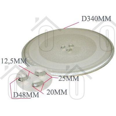 Foto van LG Glasplaat Draaiplateau 34cm MC7884NC MC8087 3390W1A029A