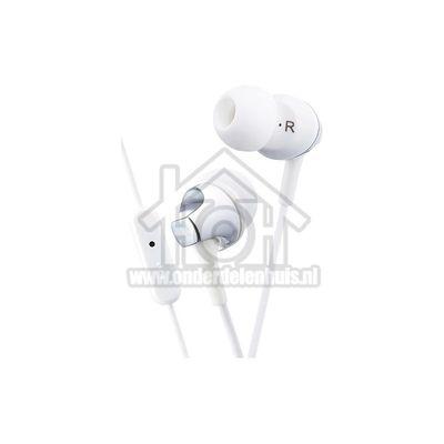 JVC Hoofdtelefoon In Ear met Microfoon en Afstandsbediening Wit met 1,2 meter snoer