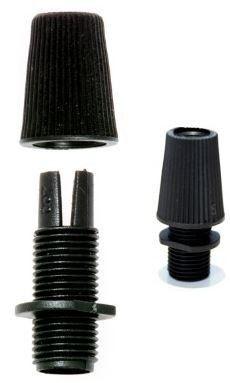 Klemnippel M10 2-Dlg zwart
