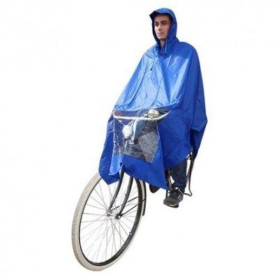 Hooodie Poncho blauw