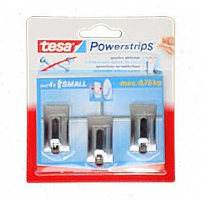 TESA Syst.haken mini CHROOM CLASSIC Tast ondergrond niet aan