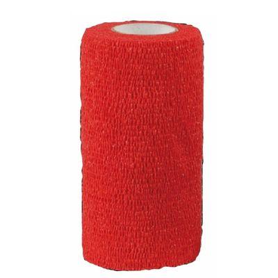 Foto van Zelfklevende bandage Equilastic 10cm rood