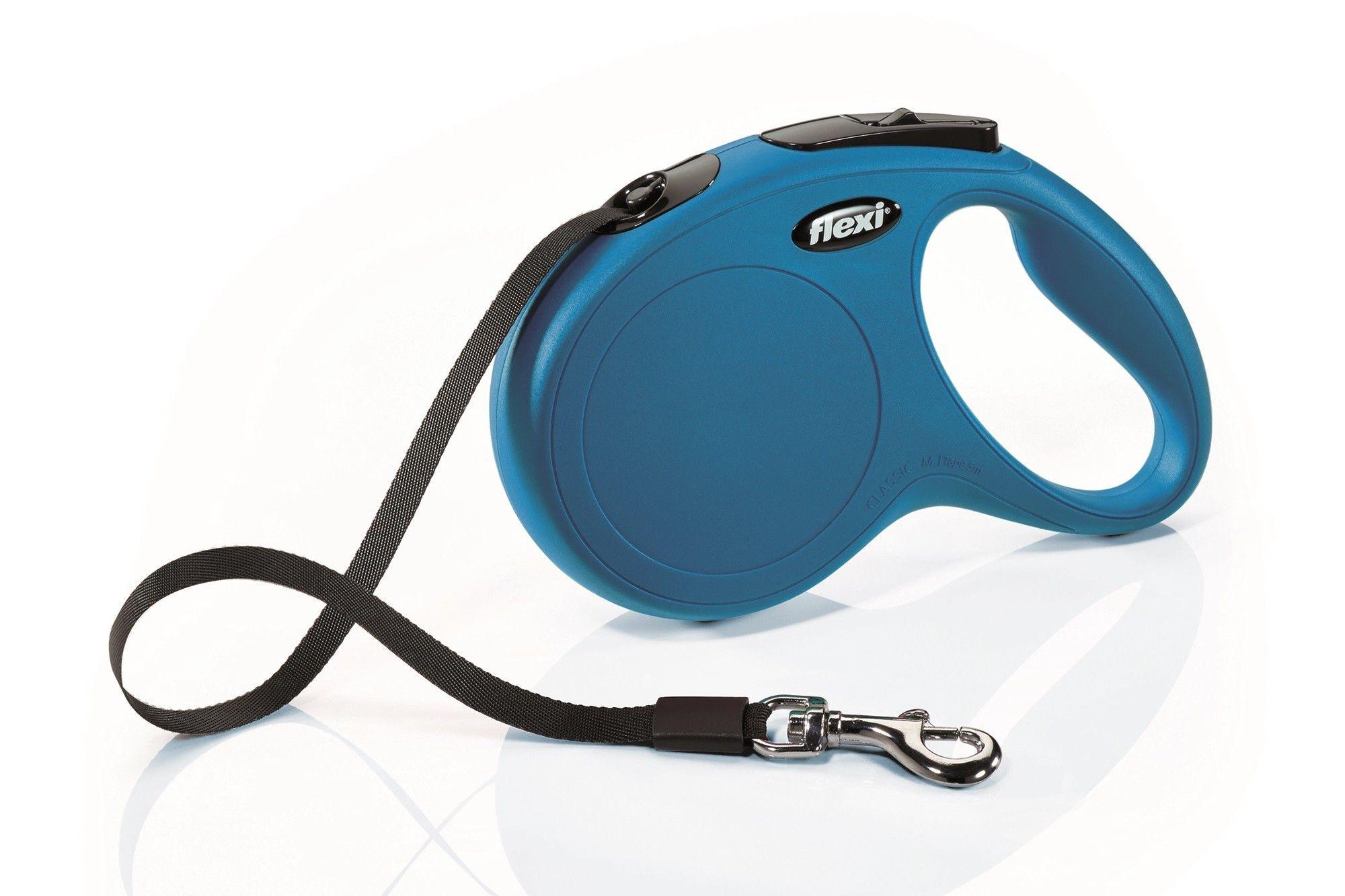 Flexi lijn New Classic Band 5mtr Blauw