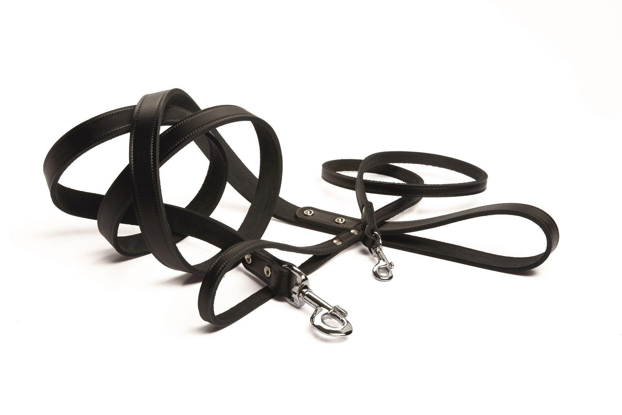 Hondenlooplijn leer Geniet Beeztees zwart