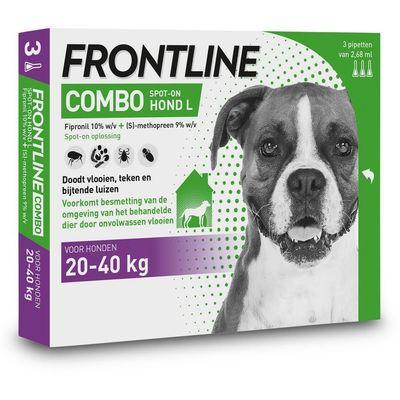 Foto van Frontline Combo spot on Hond Large 20-40kg 3 pipet