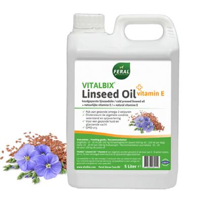 Foto van Vitalbix Linseed Oil + Vitamin E 5ltr