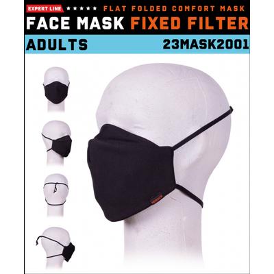 Foto van Herock Mondmasker zwart 2001 met vast filter