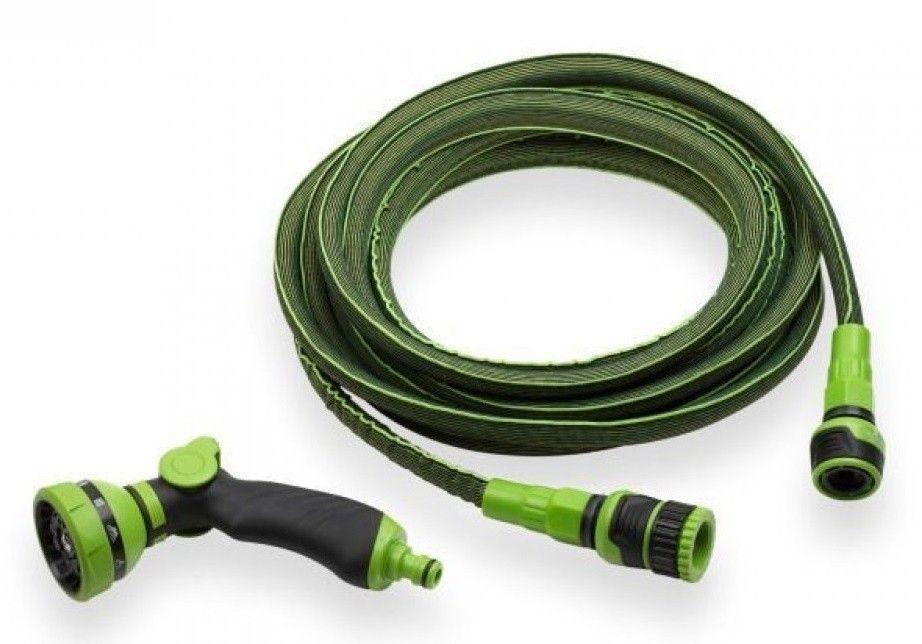 Flexibele tuinslang 'stretch' groen 7.5 tot 15mtr