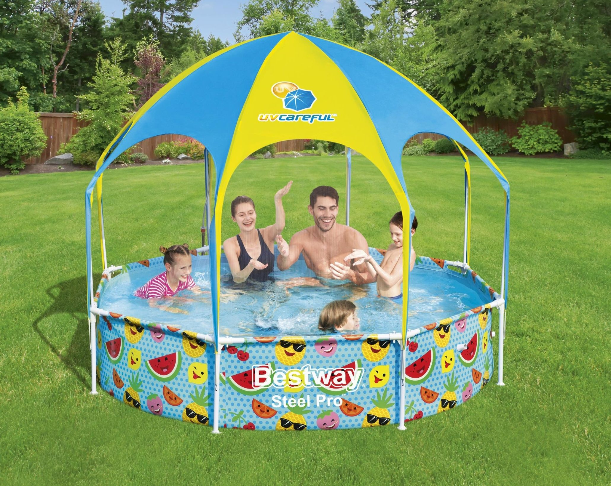 Zwembad Bestway my first frame pool splash-in-shade play rond 244cm