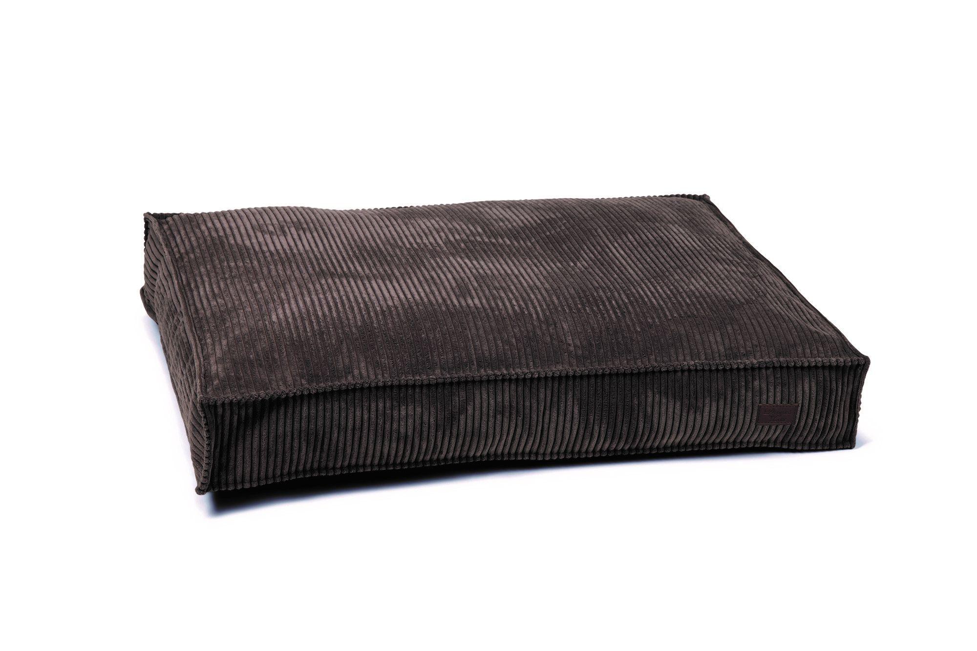 Hondenkussen Ribbed bruin DBL 100 x 70 x 15cm