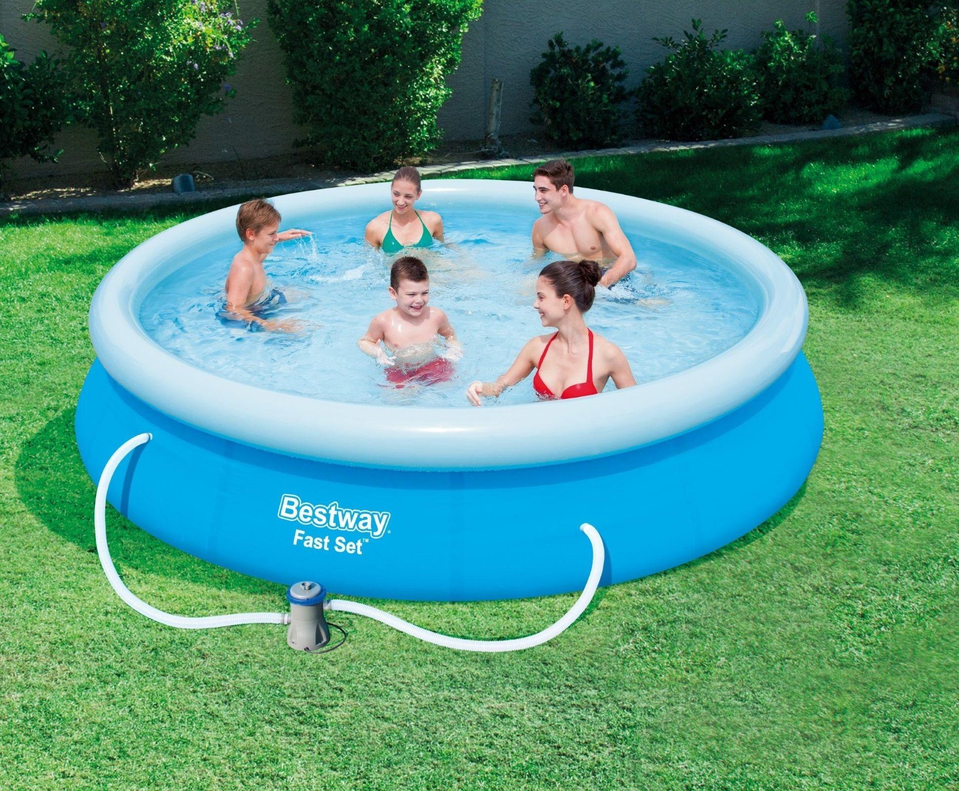 Zwembad Bestway fast set rond 305cm met filterpomp