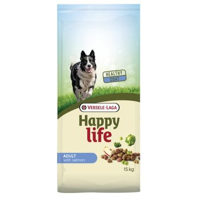 Foto van Happy Life hondenvoer Adult zalm 15kg