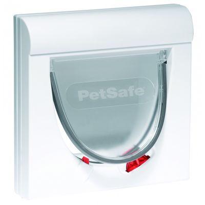 Foto van Kattenluik Petsafe 932 wit met magnetische 4-standen vergrendeling
