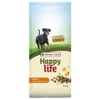 Foto van Happy Life hondenvoer Adult Beef 15kg