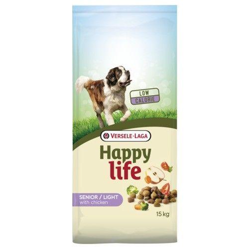 Happy Life hondenvoer Light / Senior Chicken 15kg