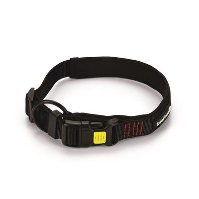 Foto van Hondenhalsband Beeztees Parinca Premium nylon zwart