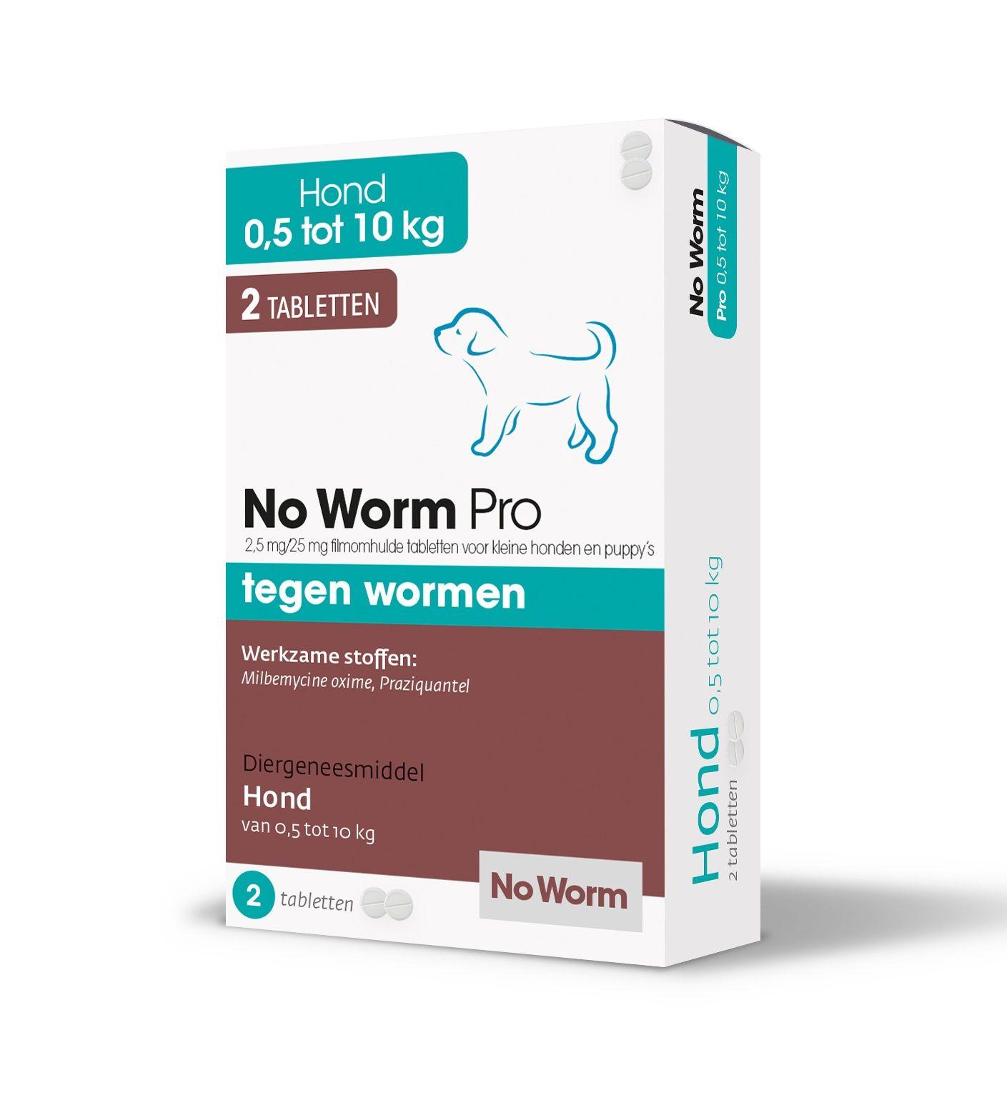 No Worm Pro wormtabletten voor kleine honden en puppy's 2 stuks