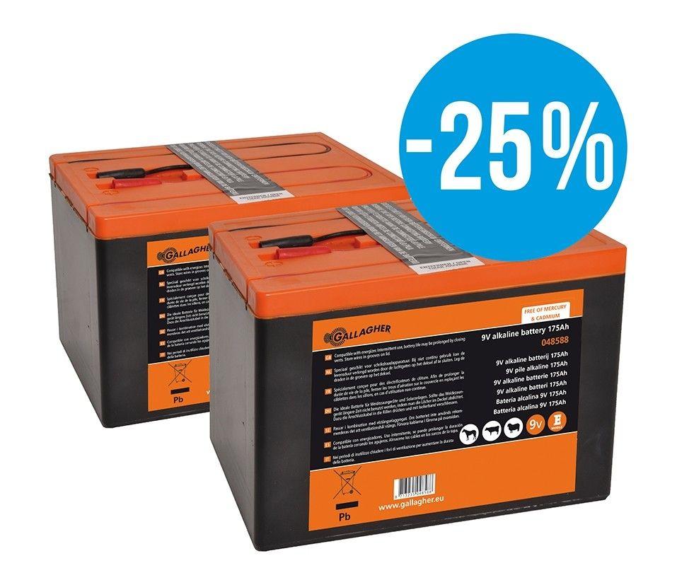 Powerpack 9V batterij 175Ah Gallagher Voordeelverpakking 2 stuks
