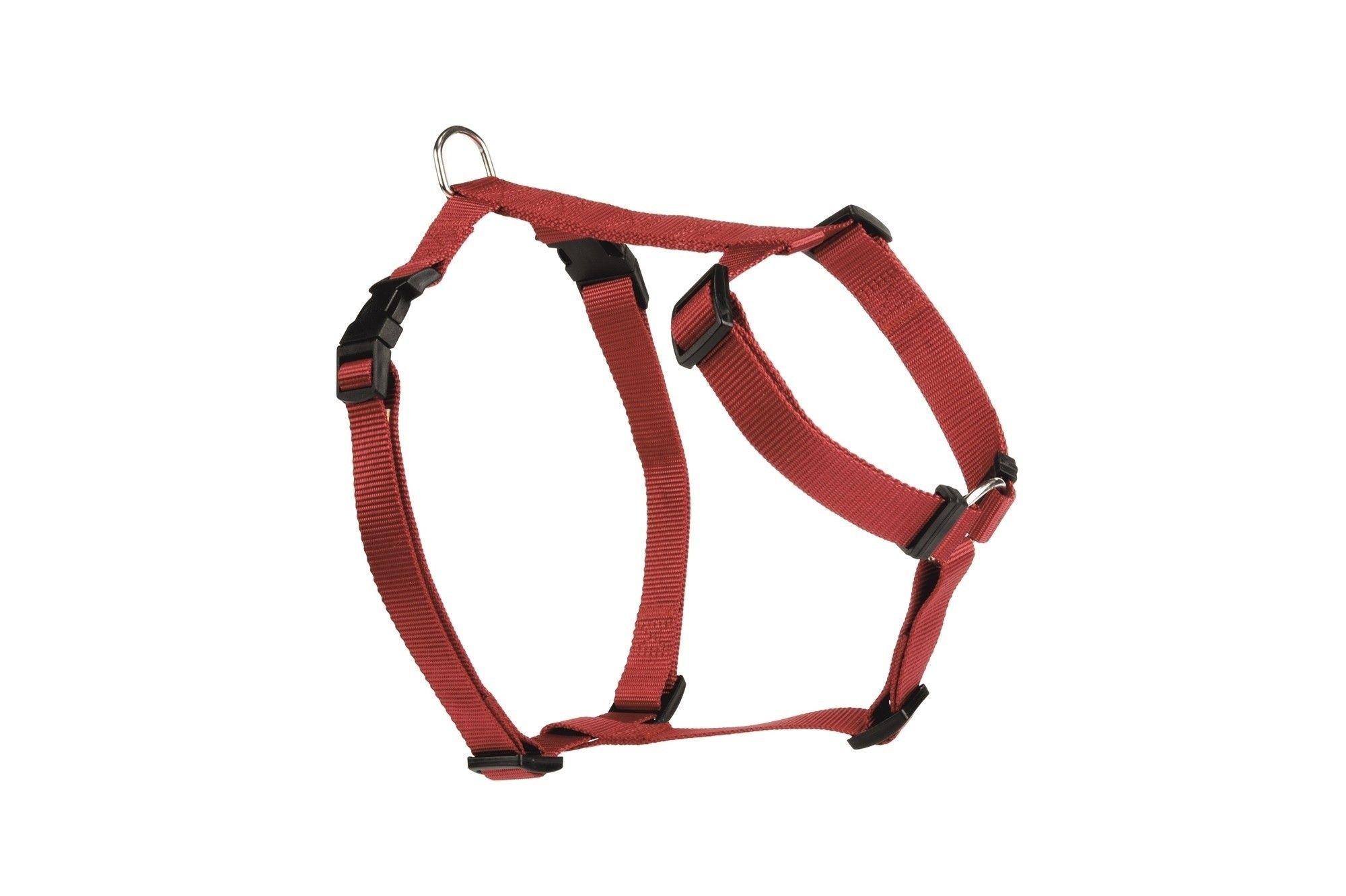 Honden wandel- en autogordel nylon Beeztees rood