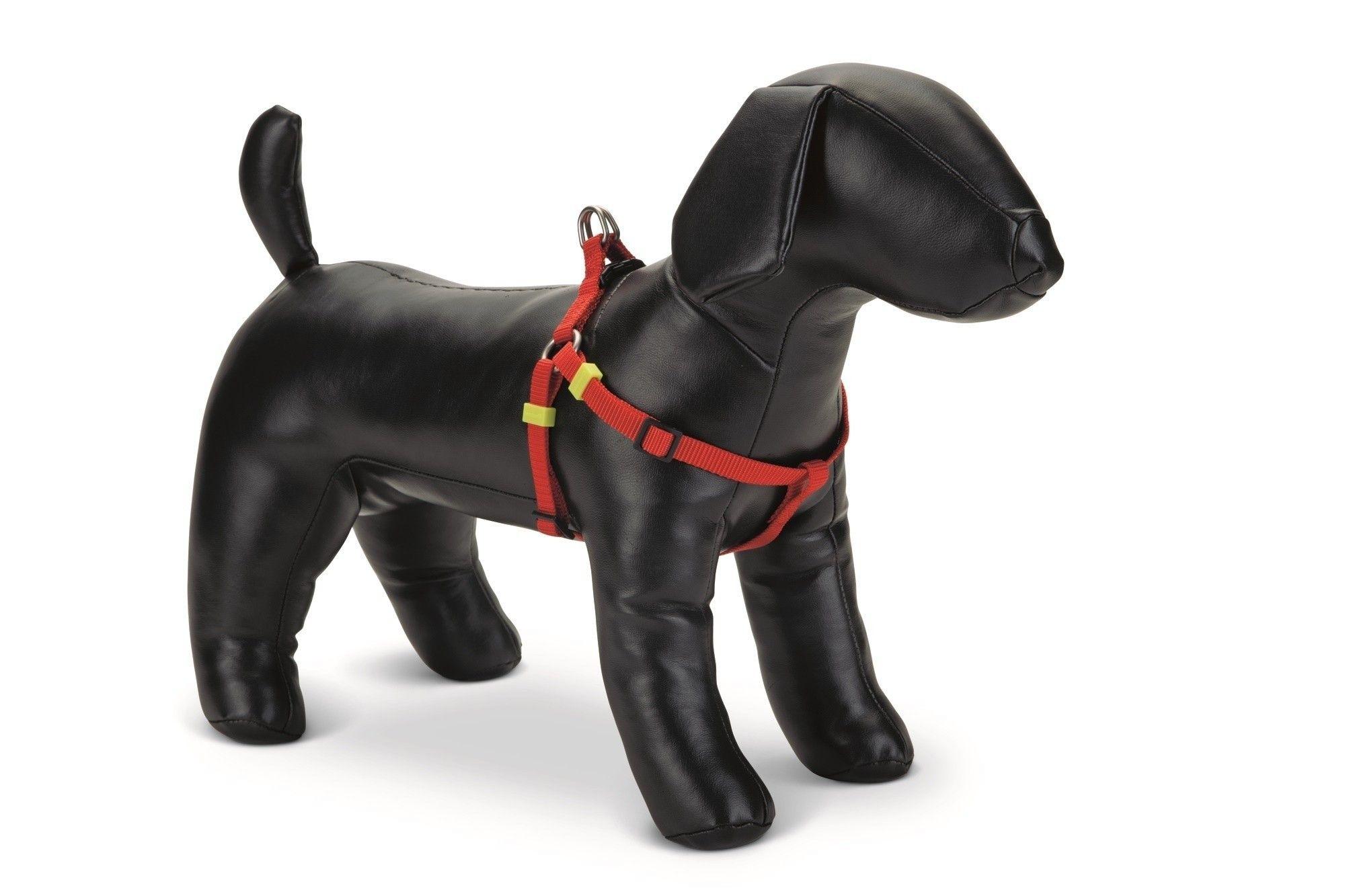 Honden borsttuig Uni nylon Beeztees rood