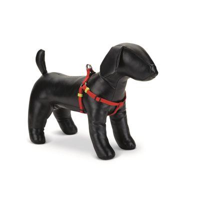 Foto van Honden borsttuig Uni nylon Beeztees rood