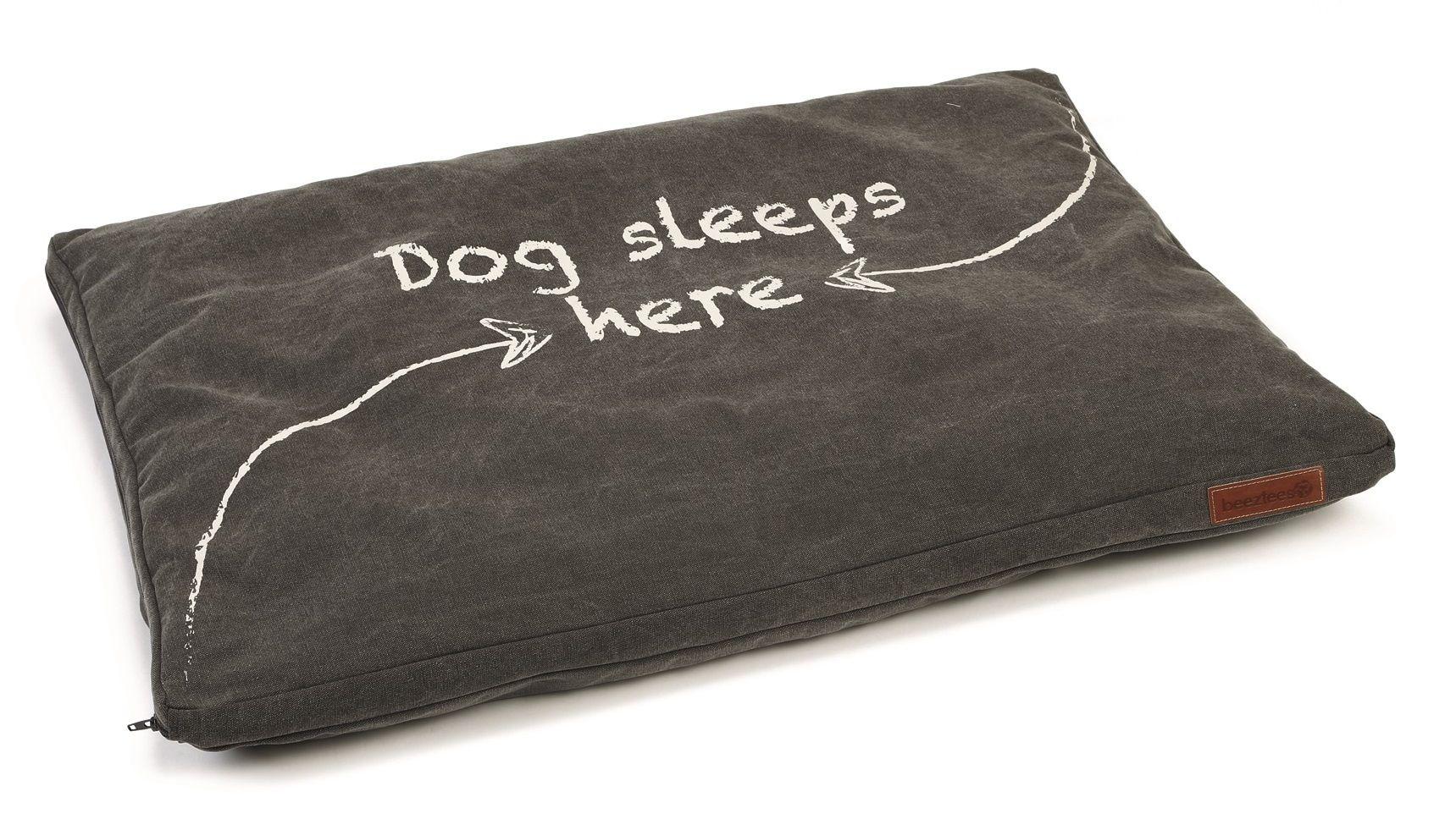 Beeztees hondenkussen Dorino canvas grijs 94x64x4cm