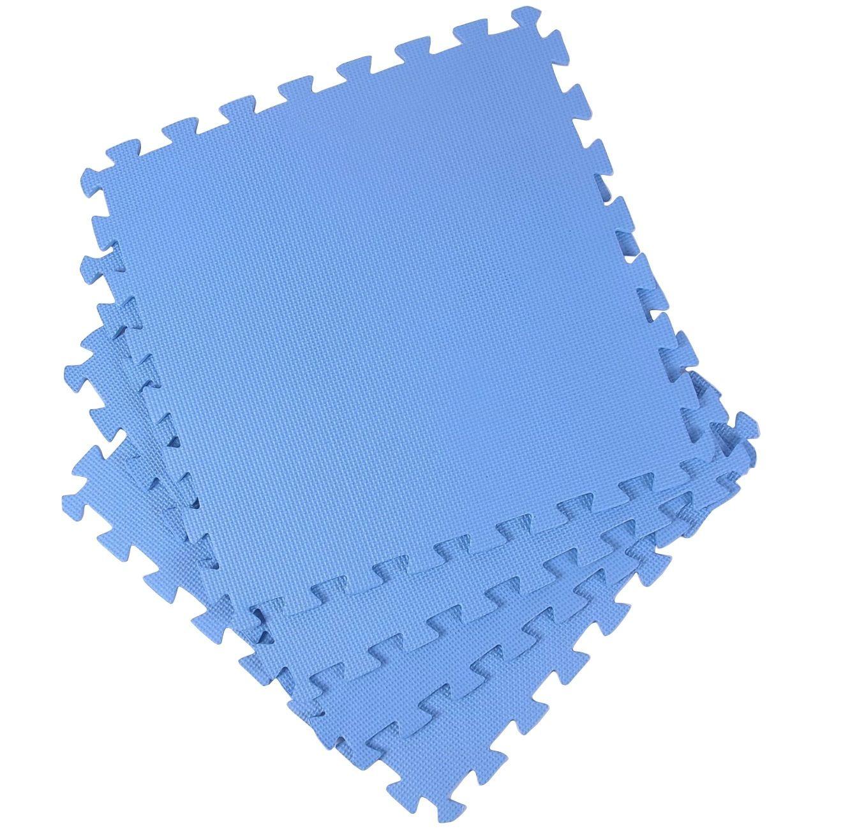 Zwembad ondertegels kunststof blauw 50x50cm 8 stuks