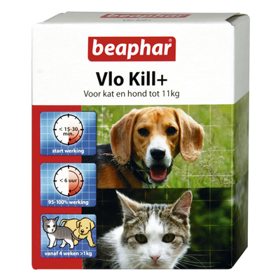 Foto van Beaphar vlo kill+ kat en hond tot 11kg
