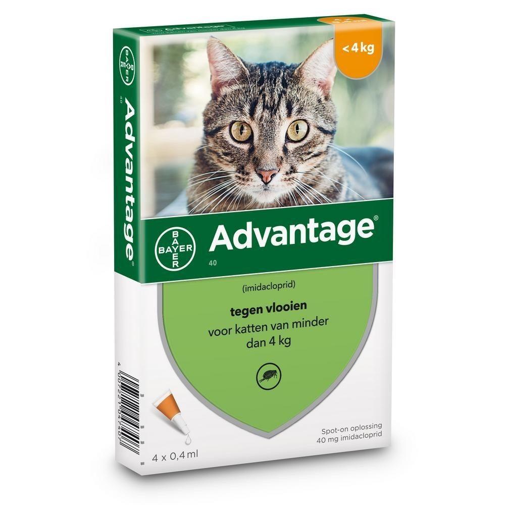 Bayer Advantage 40 voor katten tot 4kg