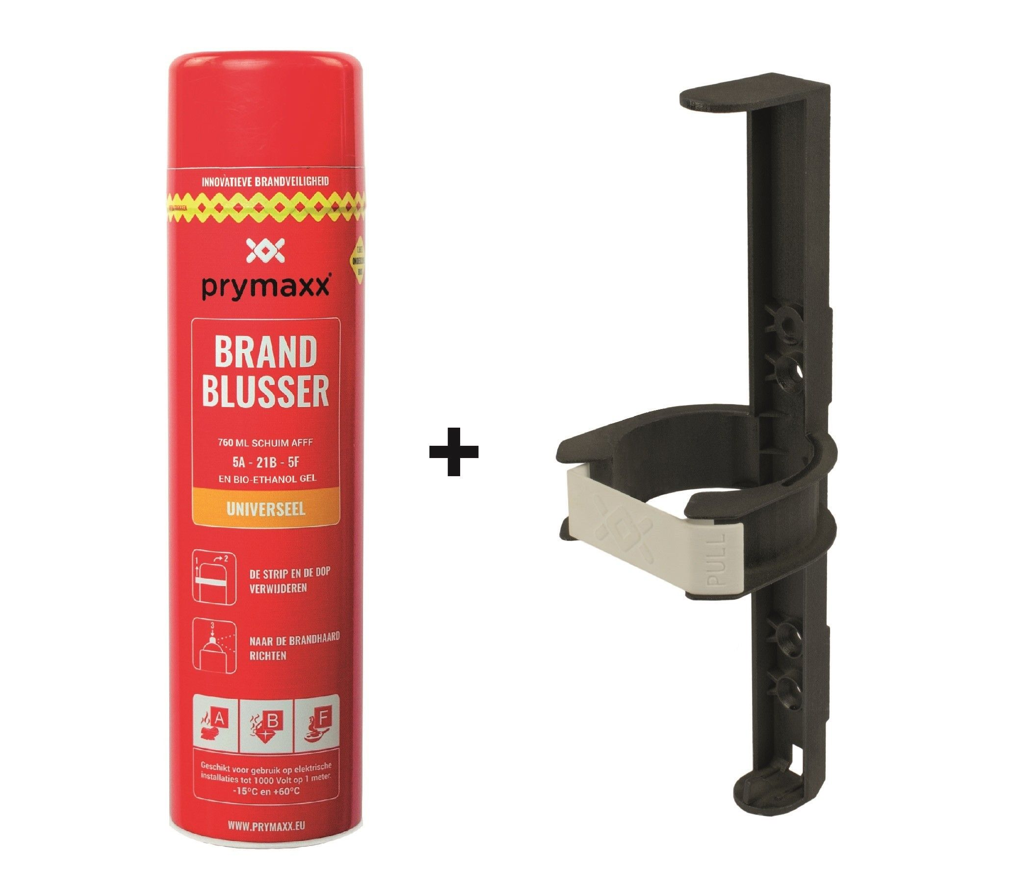 Prymaxx universele spray brandblusser + houder