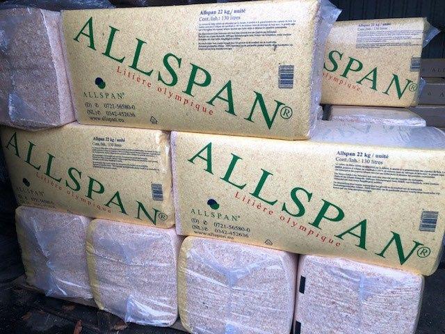 Houtvezels / Houtkrullen Allspan 22kg 48 stuks (€ 6.10/stuk)