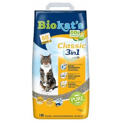 Foto van Biokat Classic 3 in 1 kattenbakvulling 18ltr