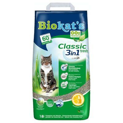 Foto van Biokat Fresh 3 in 1 kattenbakvulling 18ltr