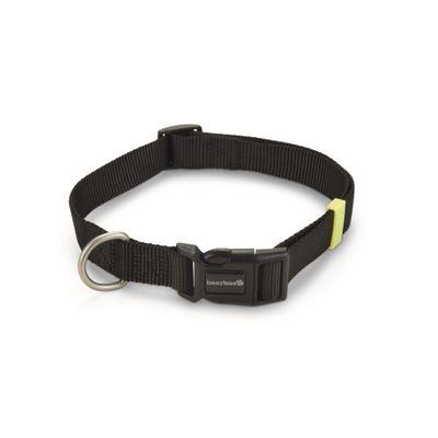 Foto van Hondenhalsband Uni nylon Beeztees zwart