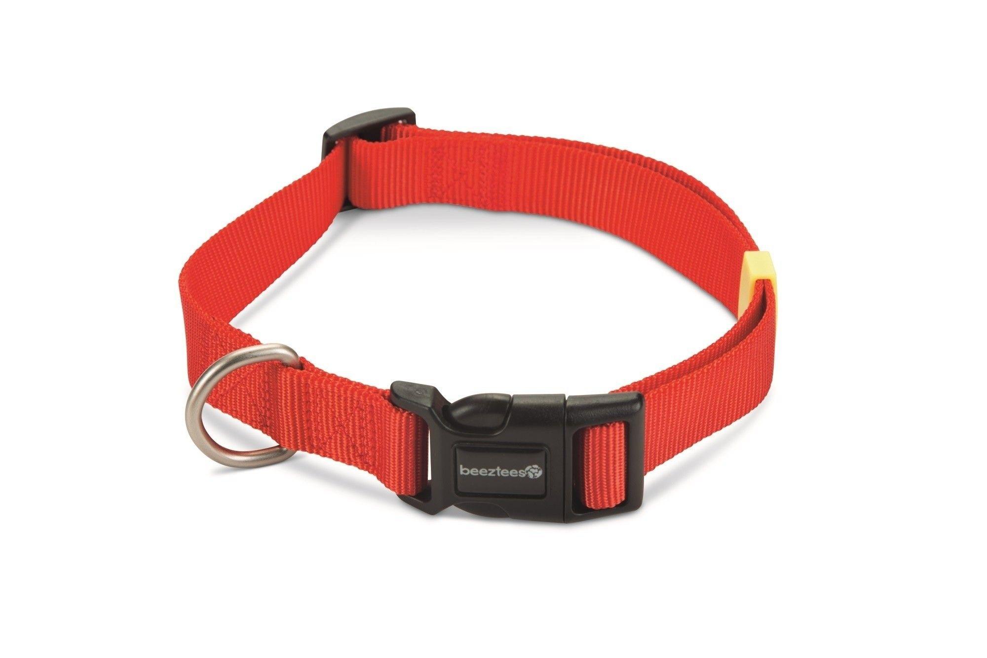 Hondenhalsband Uni nylon Beeztees rood