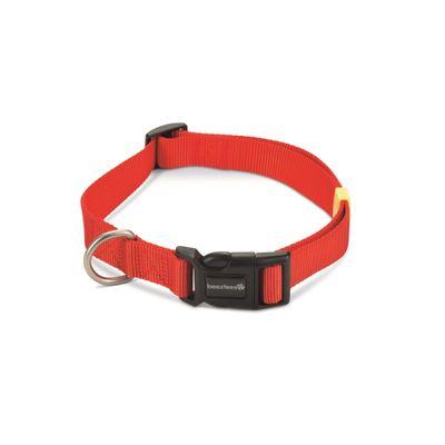 Foto van Hondenhalsband Uni nylon Beeztees rood