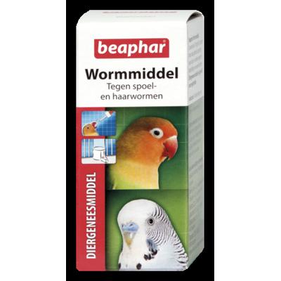Foto van Beaphar wormmiddel vogel 10 ml