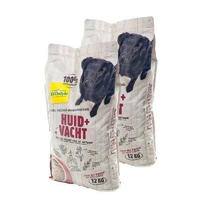 Foto van Ecostyle hondenvoer Huid en Vacht duopack 2x12kg