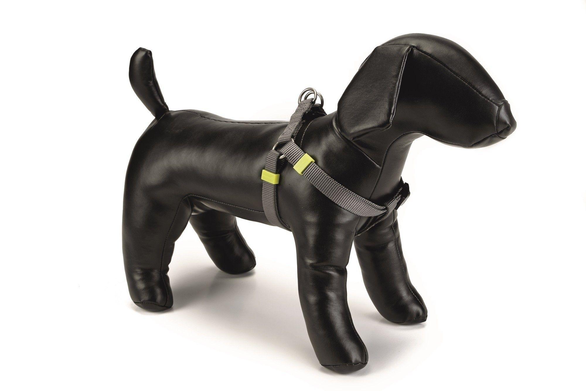 Honden borsttuig Uni nylon Beeztees donkergrijs