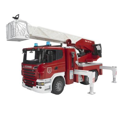 Bruder Scania R-Series Brandweer ladderwagen met waterpomp 1:16